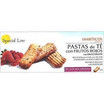 Special Line Pastas de té con frutos rojos sin azúcares añadidos envase 205 g 15 unidades