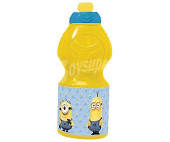 STOR Botella infantil de plástico con diseño Minnions, 0,4 litros de capacidad 0,4 L