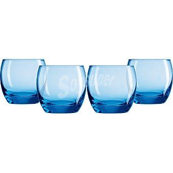 LUMINARC Salto Ice Blue Vasos de vidrio set de 4 unidades 32 cl
