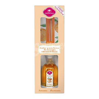 Cristalinas Ambientador varillas azahar y mandarina 90 ml