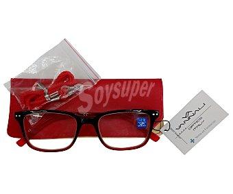 Vannali Gafas de lectura unisex para vista cansada (+3,5), con funda y cordón