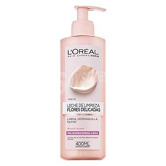 L'Oréal Leche de limpieza con extracto de rosa y jazmín para pieles normales, sensibles y secas l'oreal 400 ml