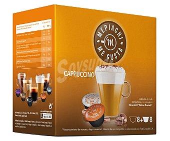 Mepiachi Café cappuccino en monodosis compatibles con Dolce Gusto mepiach 16 unidades