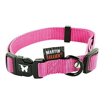 Martin Sellier Collar nylon para perro color rosa 10mm-20/30cm 1 unidad