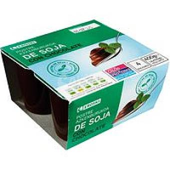Eroski Postre de soja-chocolate Pack 4x100 g
