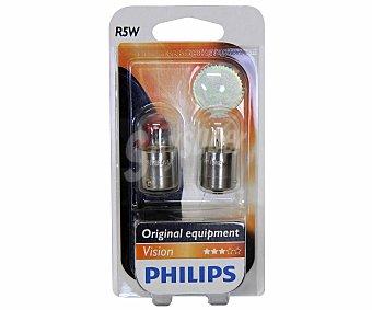 Philips Bombillas convencionales para automóvil, modelo R5W, potencia: 5W 2 Unidades