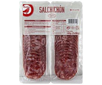 PRODUCTO ALCAMPO Salchichón de categoria extra, sin gluten y cortado en lonchas 2 x 90 g