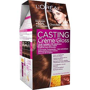 Casting Crème Gloss L'Oréal Paris Tinte sin amoniaco chocolate picante Nº 554 Caja 1 ud