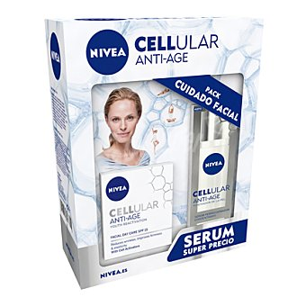 Nivea Pack crema día Cellular Anti-age + serum 30 ml. 1 ud