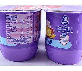 Danone Yogur desnatado vitalinea sabor mango Pack 4 x 125 g - 500 g