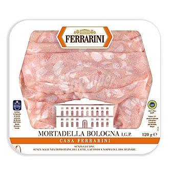 Ferrarini Mortadela italiana en lonchas IGP Bolonia sin gluten sin lactosa Envase 120 g