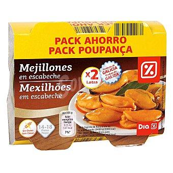 DIA Mejillones en escabeche 13/18 piezas pack de 2 latas x 69 grs Pack de 2 latas x 69 grs