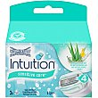 Recambio de maquinilla Intuition Naturals aloe + vitamina E sensitive care Estuche 3 unidades Wilkinson