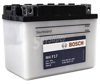 Bosch Batería de moto de 12v y 4 Ah, con potencia de arranque de 50 Amperios bosch