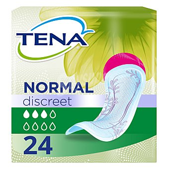 Tena Lady Compresas de incontinencia normal para pérdidas leves o moderadas de orina Paquete 24 u