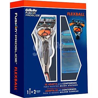 Gillette Fusion Proglide Pack con maquinilla de afeitar + 2 cargadores Estuche 1 unidad
