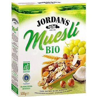 Jordans Procedente de agricultura biológica con frutas y frutos secos Muesli Bio Paquete de 500 g