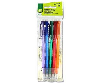 Productos Económicos Alcampo Lote de 5 portaminas de diferentes colores y con grosor de escritura de 0,5 milímetros 1 unidad