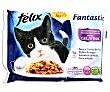 Comida húmeda para gatos adultos selecciones favoritas en gelatina Pack 4 x 100 g Purina Felix