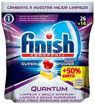 Finish Lavavajillas máquina limón Bolsa 26+14 dosis