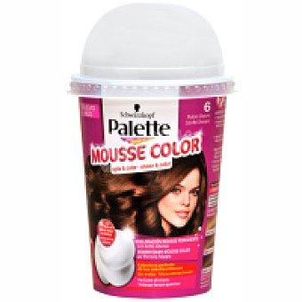Palette Schwarzkopf Tinte rubio oscuro Nº6 Mousse Color Caja 1 unid