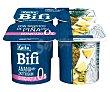 Bifidus desnatado (0% materia grasa) con trocitos de piña 4 x 125 g Kaiku Bifi