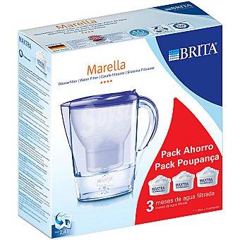 Brita Marella jarra de filtro con 3 recambios en color lavanda 24 l