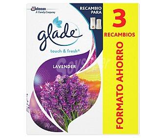 Glade Ambientador un toque lavanda recambio 2 uds