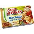 Bacalao a la vizcaína elaborado en Galicia Lata 70 g Cabo de Peñas