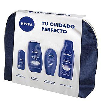 Nivea Neceser roll on Protege & cuida + gel de ducha Creme Care + crema de manos Cuidado Intensivo + body milk Nutritivo 1 ud