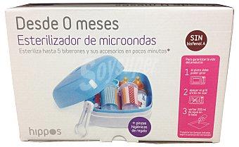 Hippos Esteriliza biberon microondas ( capacidad para 5 biberones ) 1 unidad