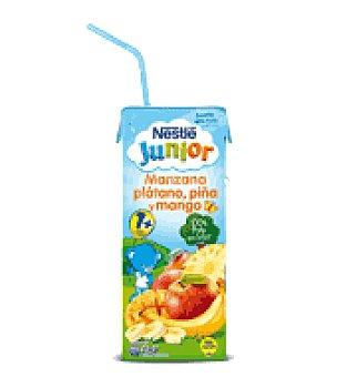Nestlé Bebida de manzana, plátano, piña y mango 200 ml