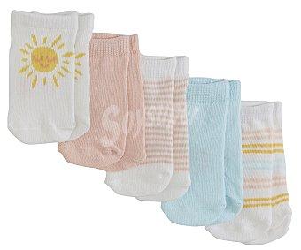 In Extenso Lote 5 pares de calcetines de bebé talla 15/17.