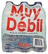 Agua mineral natural (mineralizacion muy debil) Pack de 6x500 cc  VITALIS