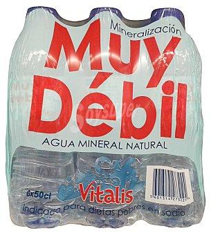 VITALIS Agua mineral natural (mineralizacion muy debil) Pack de 6x500 cc