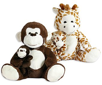 Best made toys Animalitos de Peluche Mamá con su Bebé 1 Unidad