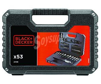 Black&Decker Lote de 53 accesorios para atornilladores con y sin batería + atornillador de carraca 1 unidad