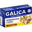 Berberechos al natural 55/65 de Galicia Lata 63 g Galica