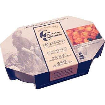 CONSERVAS DE CAMBADOS Zamburiñas en salsa gallega Lata 65 g