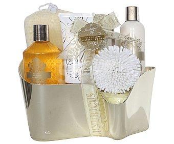 Gloss Cesta de baño con productos de belleza corporal aroma a canela, Gold 1 unidad