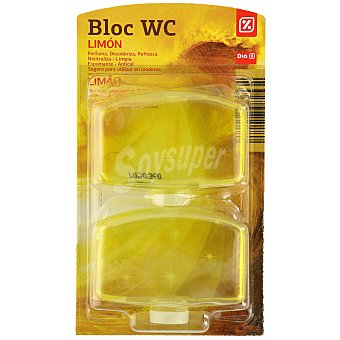 DIA Block wc líquido aroma limón recambio 2 uds