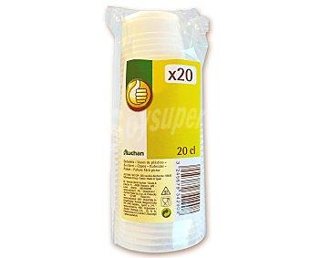 Productos Económicos Alcampo Vasos desechables, 0,20 litros de capacidad 20 unidades