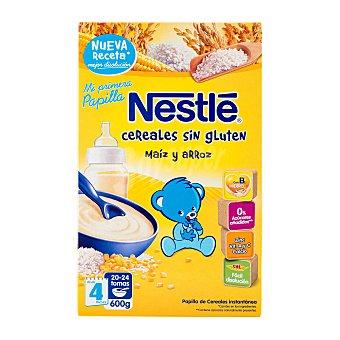 Nestlé Papillas Papilla de cereales sin gluten, desde 4 meses Caja 600 g