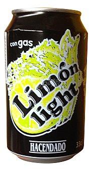 HACENDADO Limón con gas light Lata de 33 cl