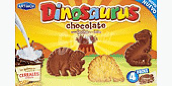 Dinosaurus Galletas dinosaurus chocolate 225 GRS
