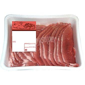 LA MONTAÑERA Jamón de cerdo en filetes Bandeja de 1 kg Peso aproximado