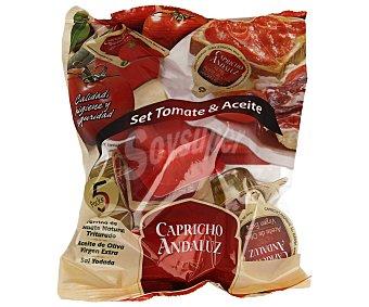 Capricho Andaluz Set monodosis aceite oliva virgen extra Pack 5 u x 10 ml