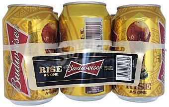 BUDWEISER Cerveza rubia LATA PACK 6 x 330 cc - 1980 cc