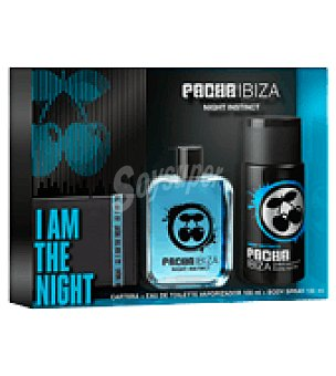 Pacha Ibiza Estuche Colonia Night Instinct spray 100ml + desodorante 150 ml + cartera 1 ud