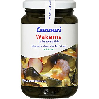 CANNORI Alga wakame al natural Frasco 65 g neto escurrido
